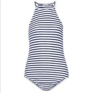Splendid Women's Stripe Halter Neck Bodysuit